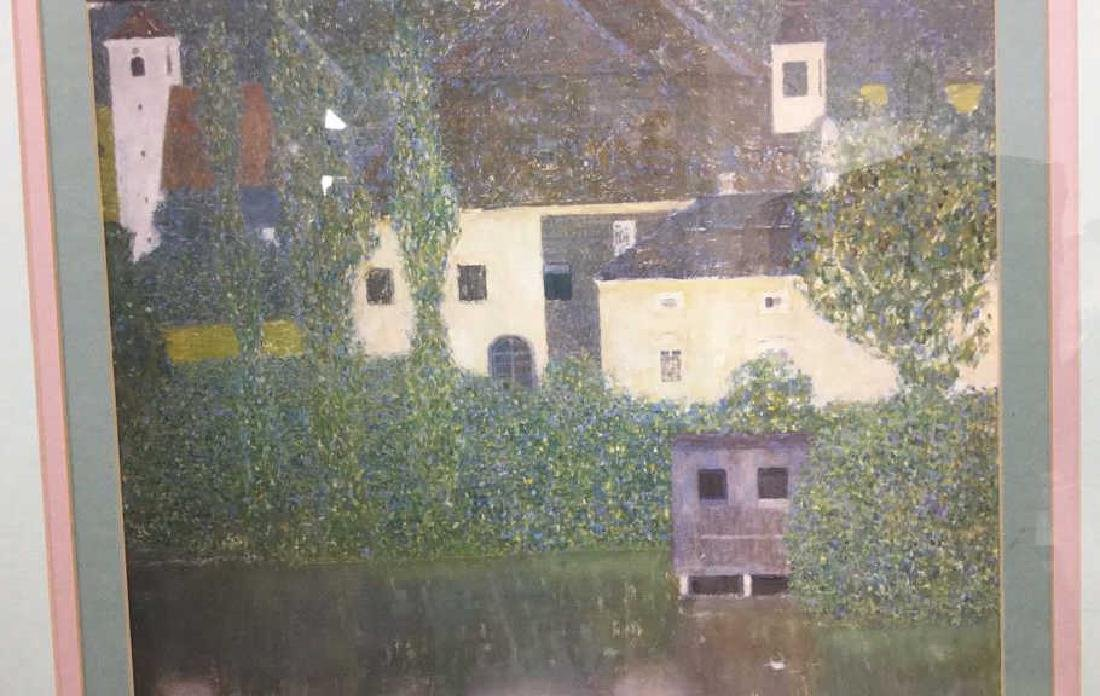 Framed Klimt Art Print Castle - 5