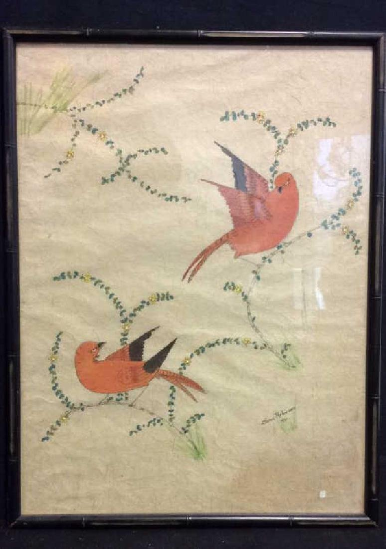 Artwork Two Birds on Branches