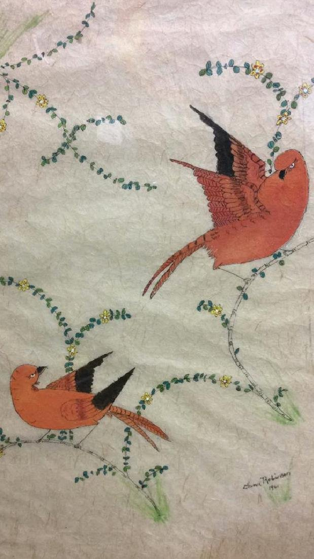 Artwork Two Birds on Branches - 2