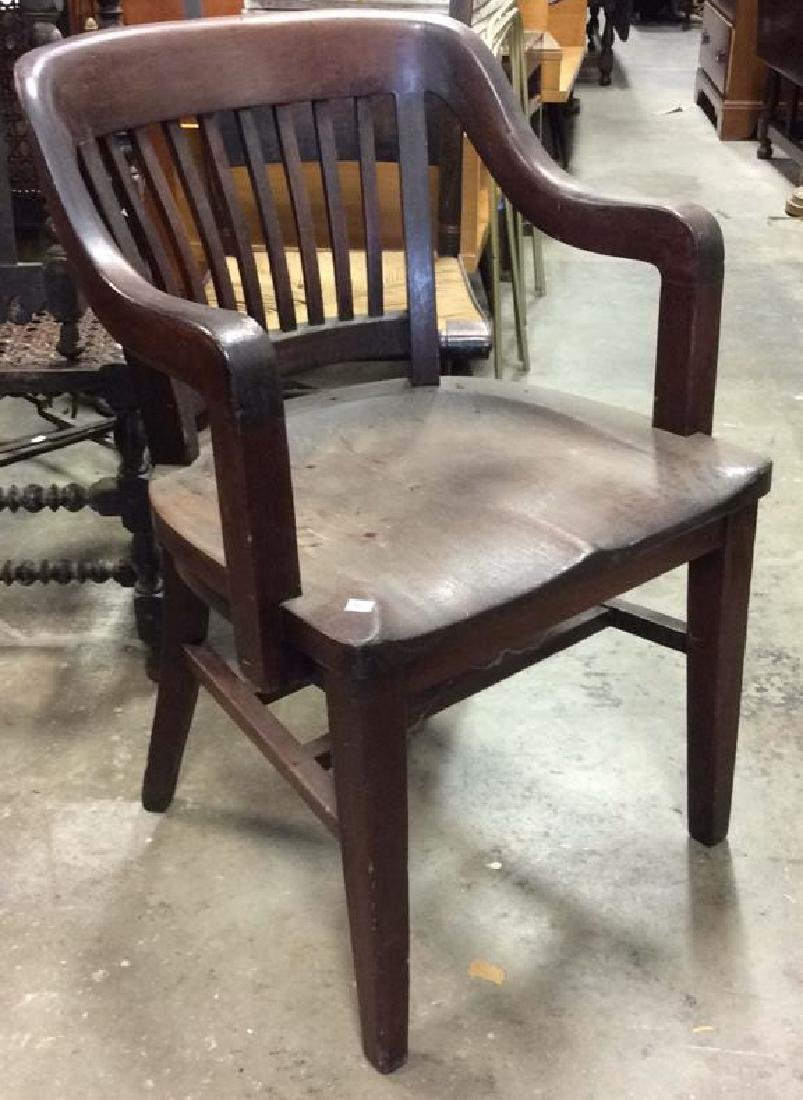 Antique Mahogany Library Chair