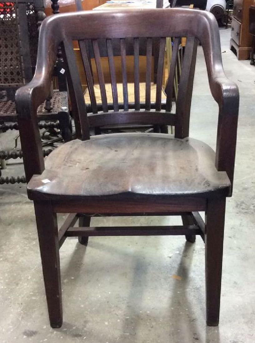Antique Mahogany Library Chair - 2