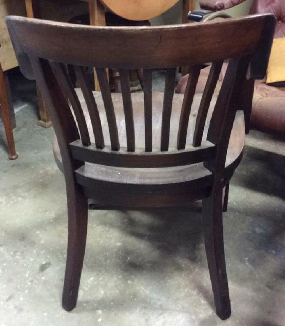 Antique Mahogany Library Chair - 4