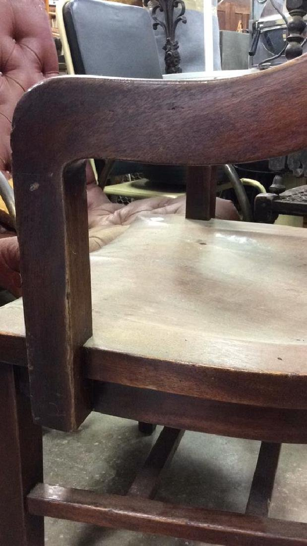 Antique Mahogany Library Chair - 5
