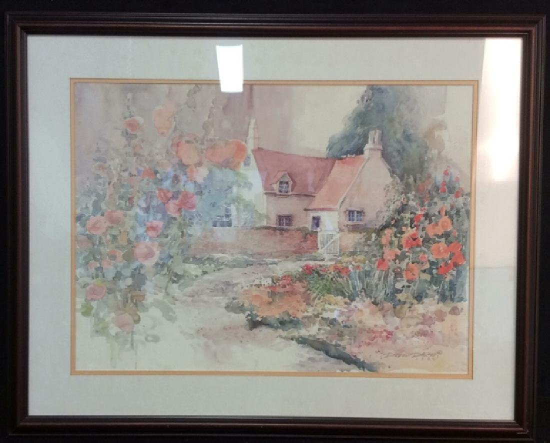 Art Print Daluna Darton Cottage Set in Forest