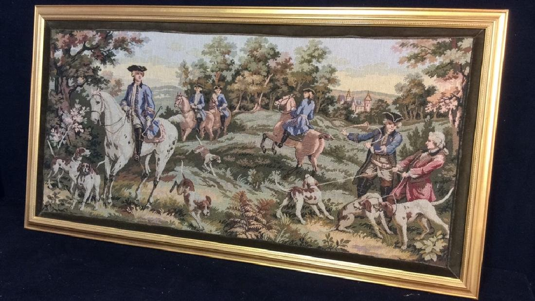 Embroidered Tapestry 18th Century Hunt - 2
