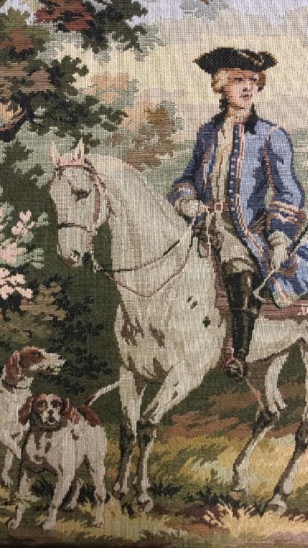 Embroidered Tapestry 18th Century Hunt - 3