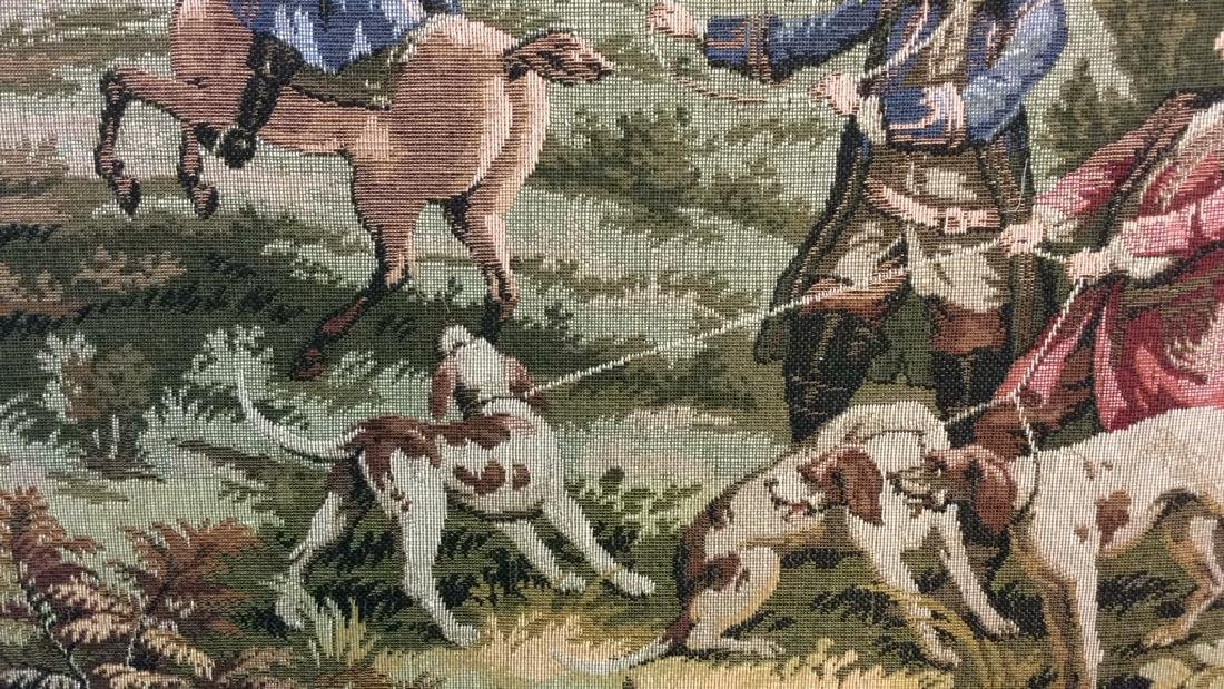 Embroidered Tapestry 18th Century Hunt - 4