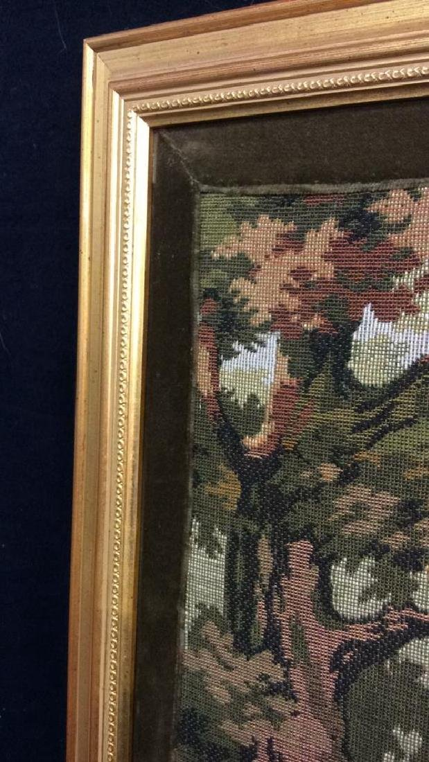 Embroidered Tapestry 18th Century Hunt - 5