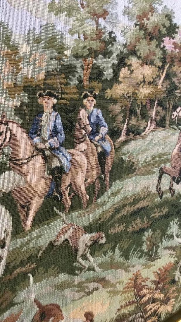 Embroidered Tapestry 18th Century Hunt - 7