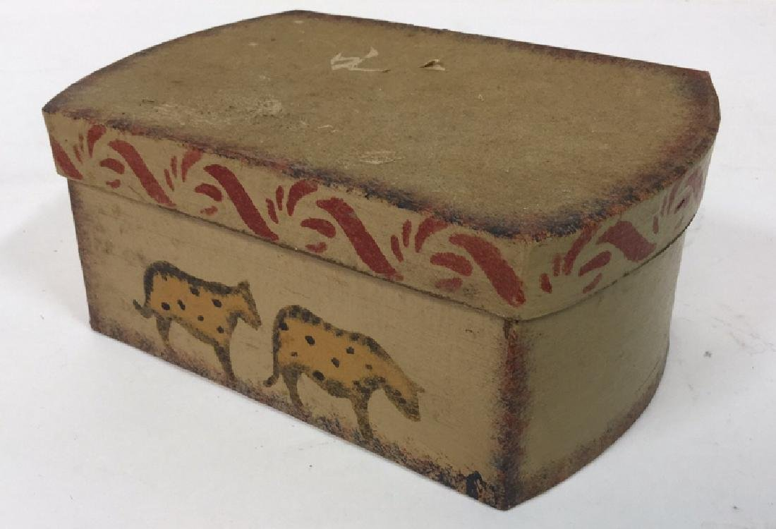 Set  Three Painted Boxes Depicting Noah's Arch - 10