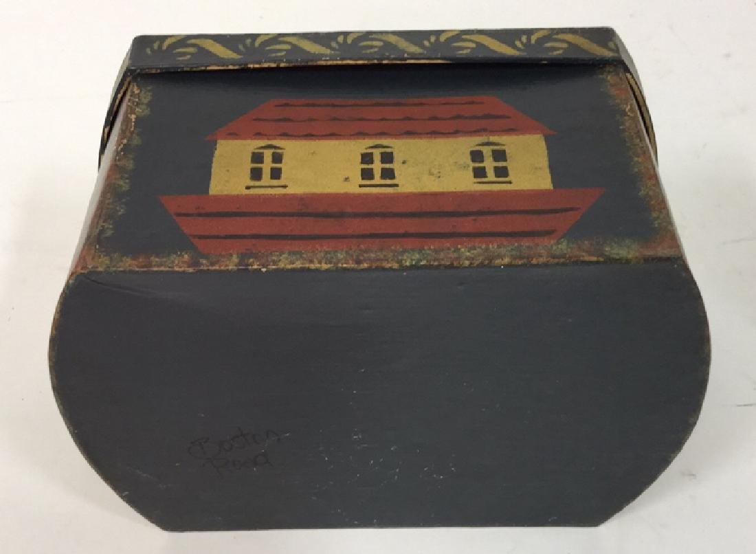 Set  Three Painted Boxes Depicting Noah's Arch - 3