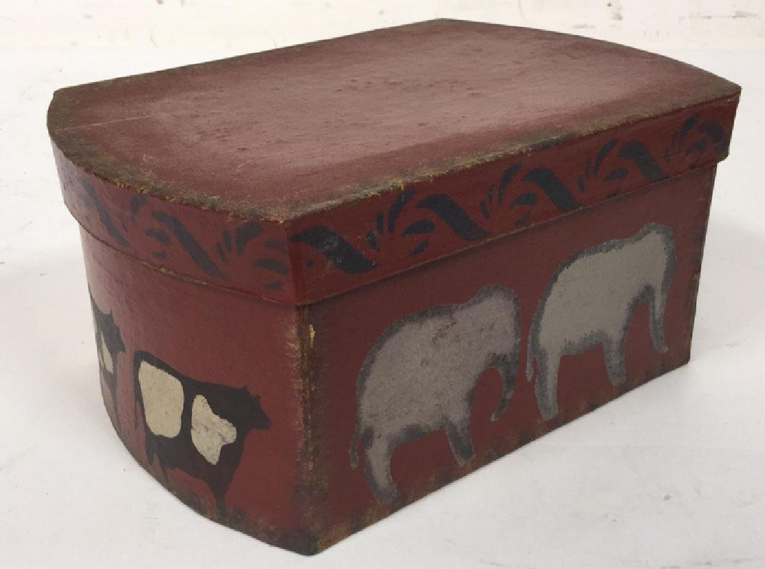 Set  Three Painted Boxes Depicting Noah's Arch - 7
