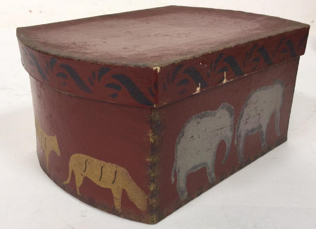 Set  Three Painted Boxes Depicting Noah's Arch - 8