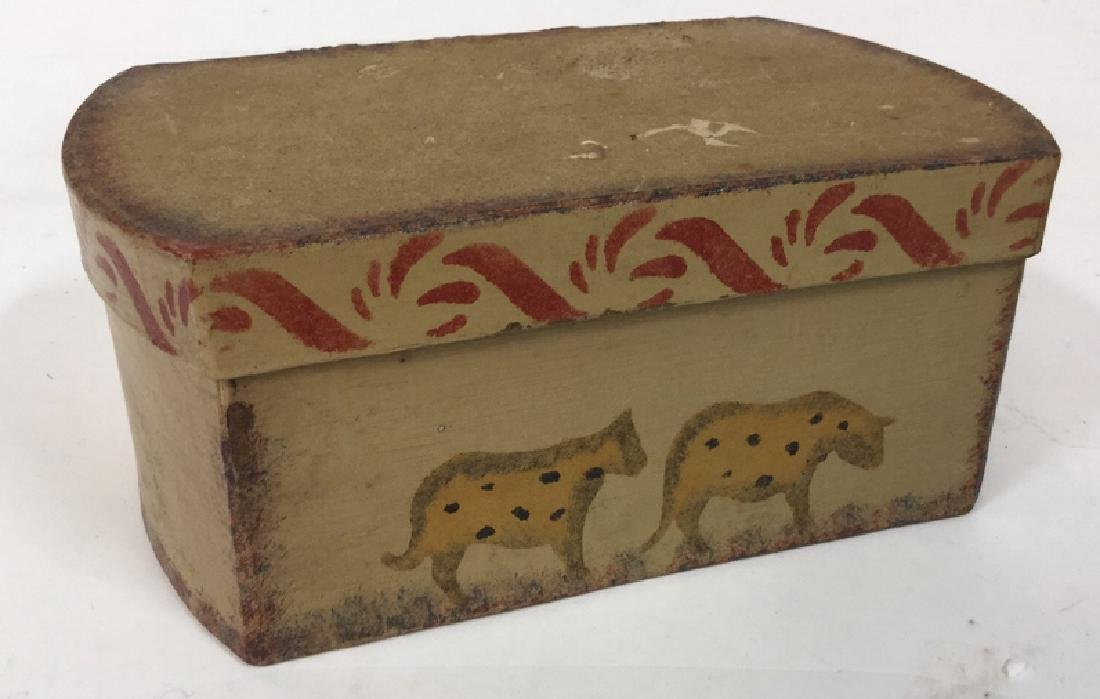 Set  Three Painted Boxes Depicting Noah's Arch - 9