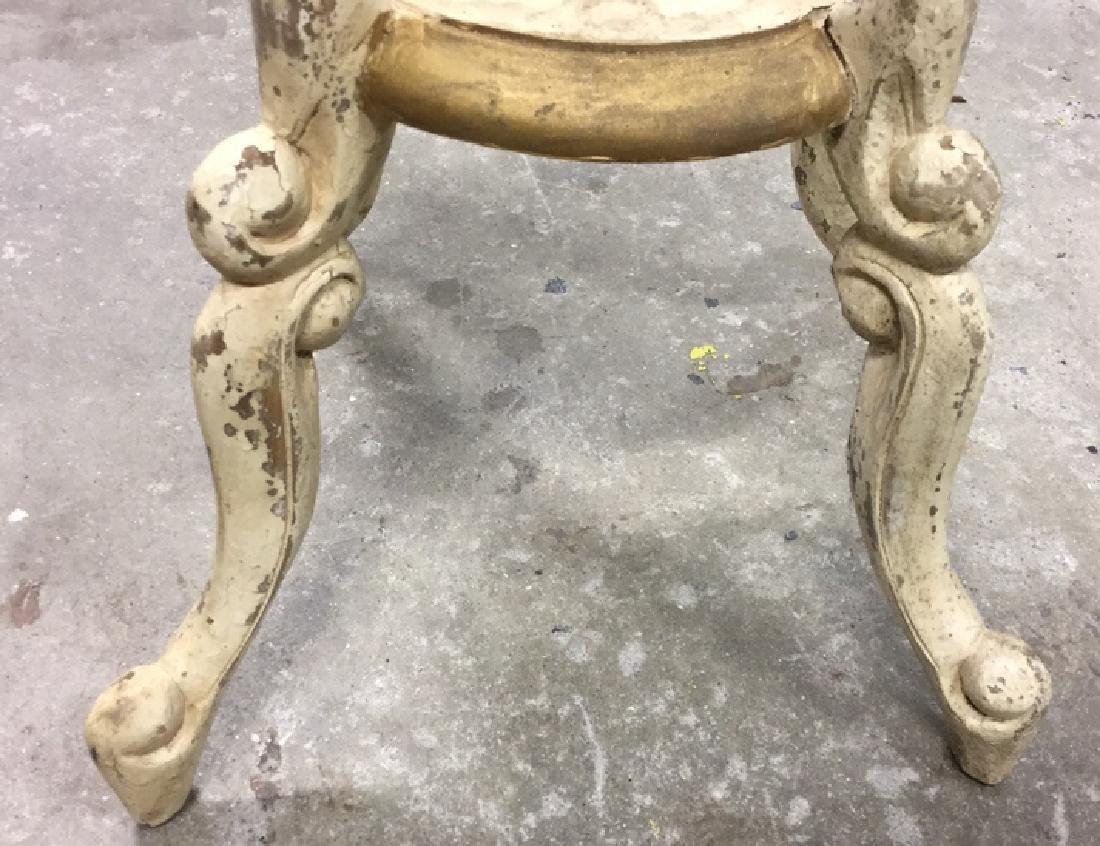 Vintage Carved and Painted Wood Pedestal - 3