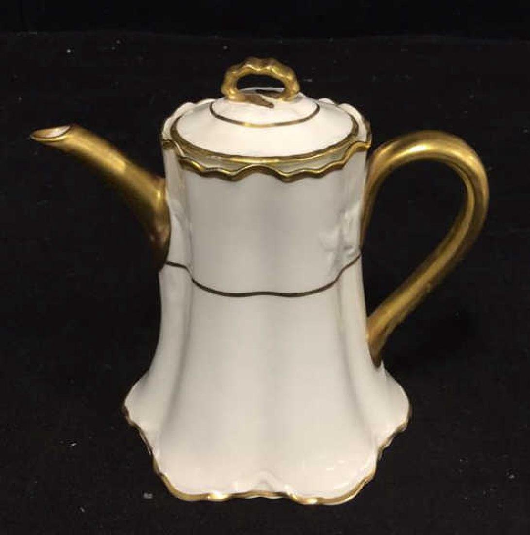 Pope Gosser Pearl White China Tea Pot w Lid - 10