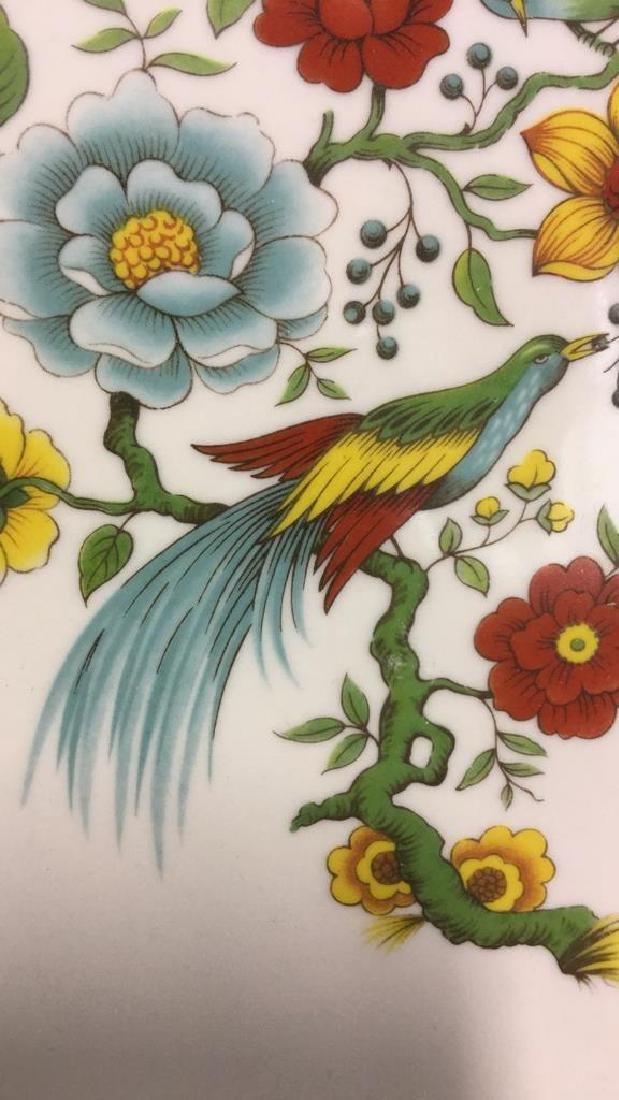 Decorative Platter w Bird & Floral Design France - 10