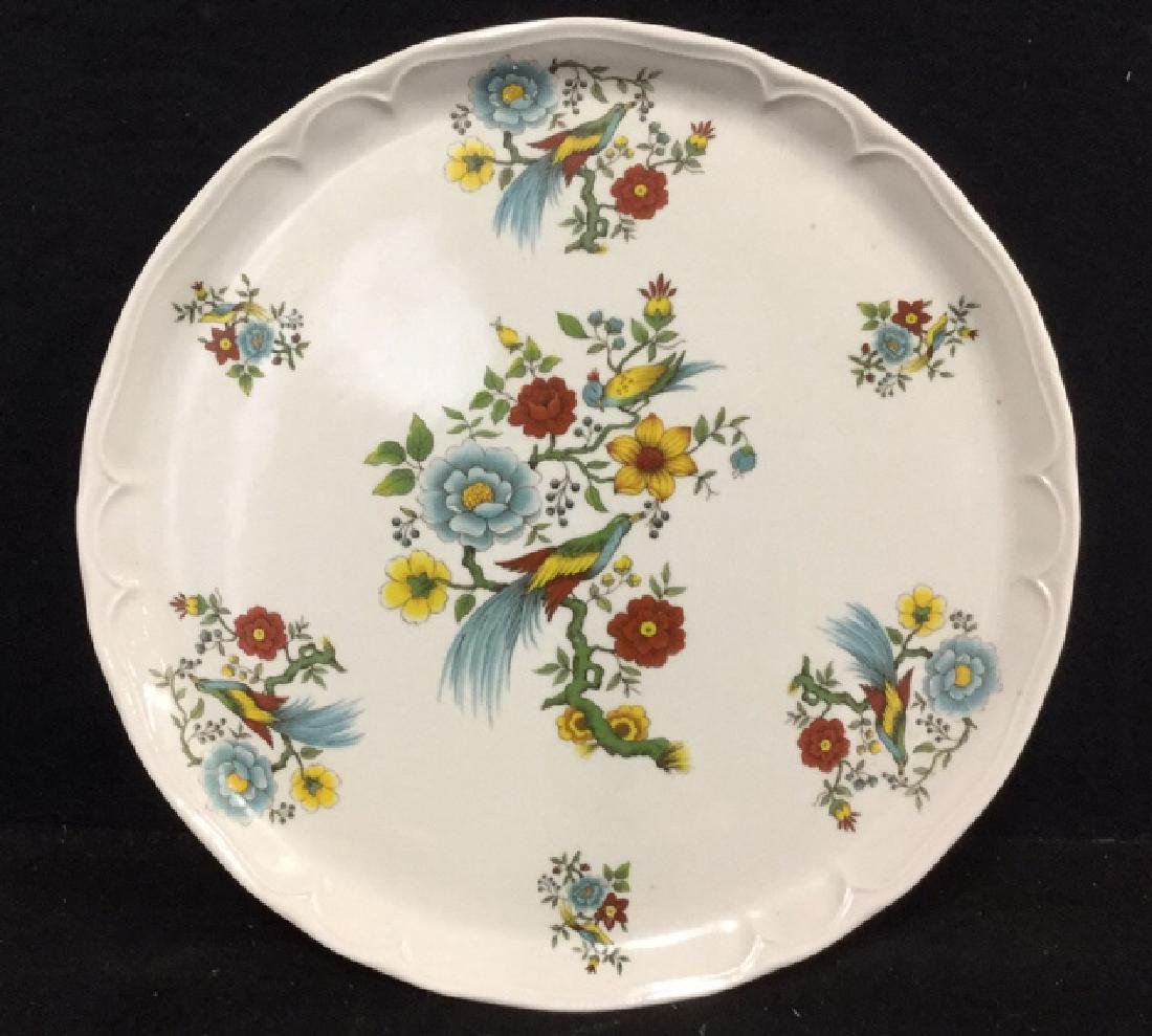 Decorative Platter w Bird & Floral Design France