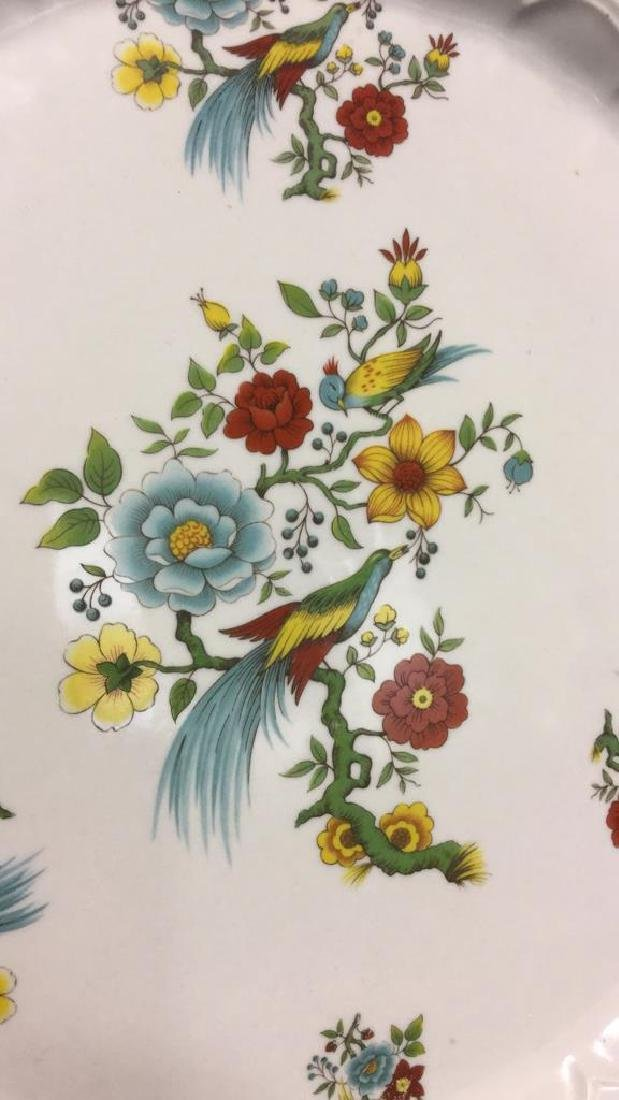 Decorative Platter w Bird & Floral Design France - 2