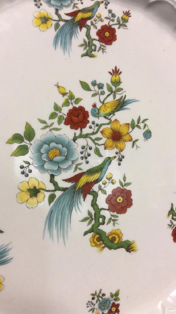 Decorative Platter w Bird & Floral Design France - 3