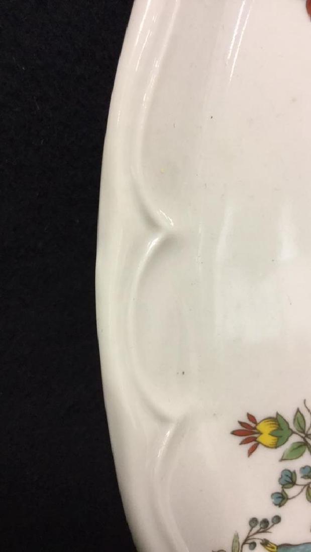 Decorative Platter w Bird & Floral Design France - 4