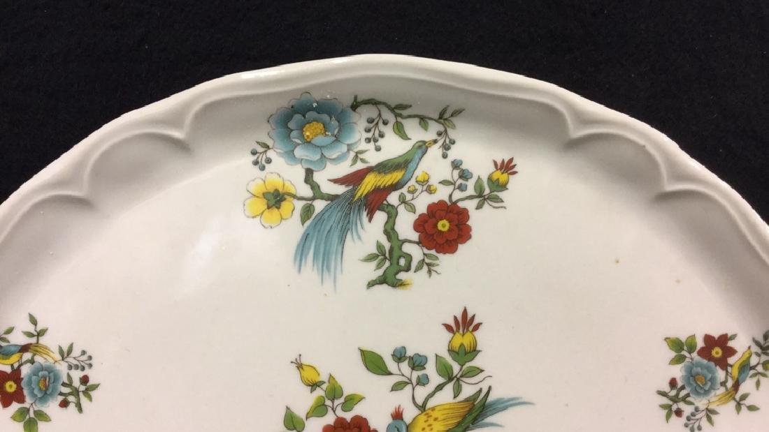 Decorative Platter w Bird & Floral Design France - 5
