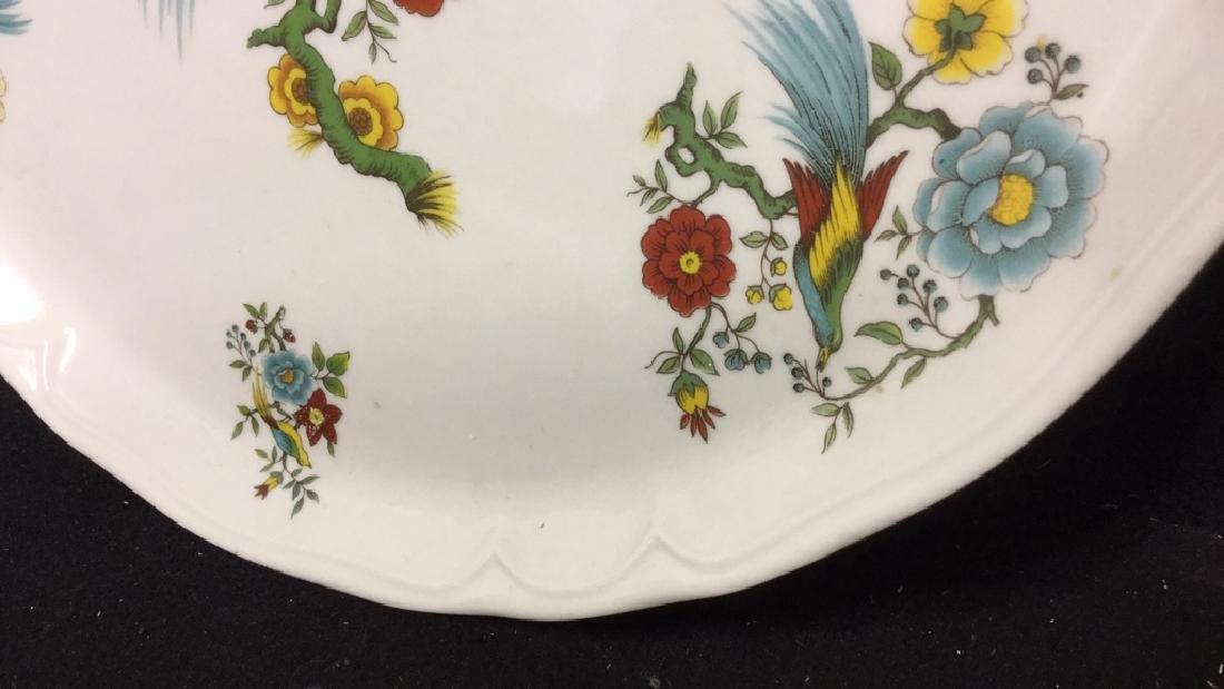 Decorative Platter w Bird & Floral Design France - 8