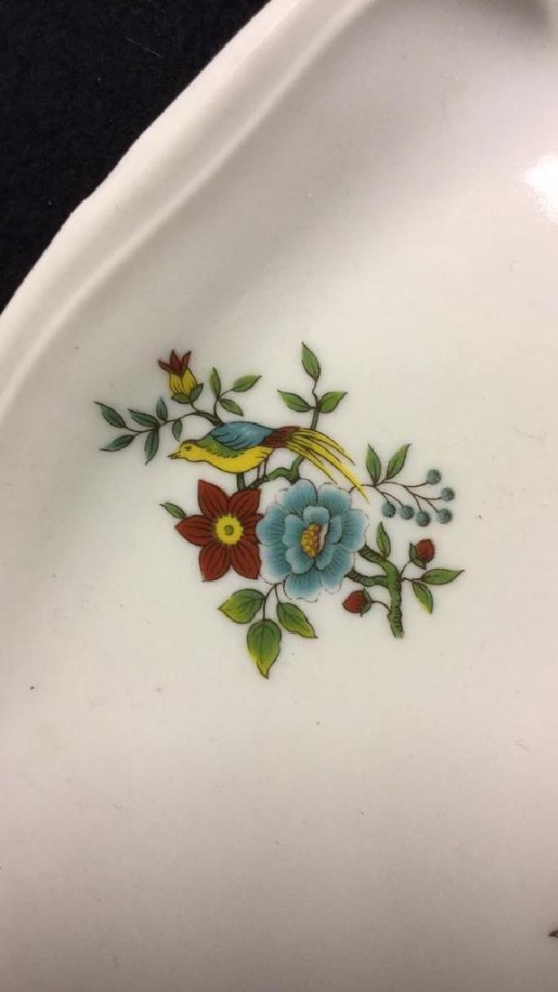 Decorative Platter w Bird & Floral Design France - 9