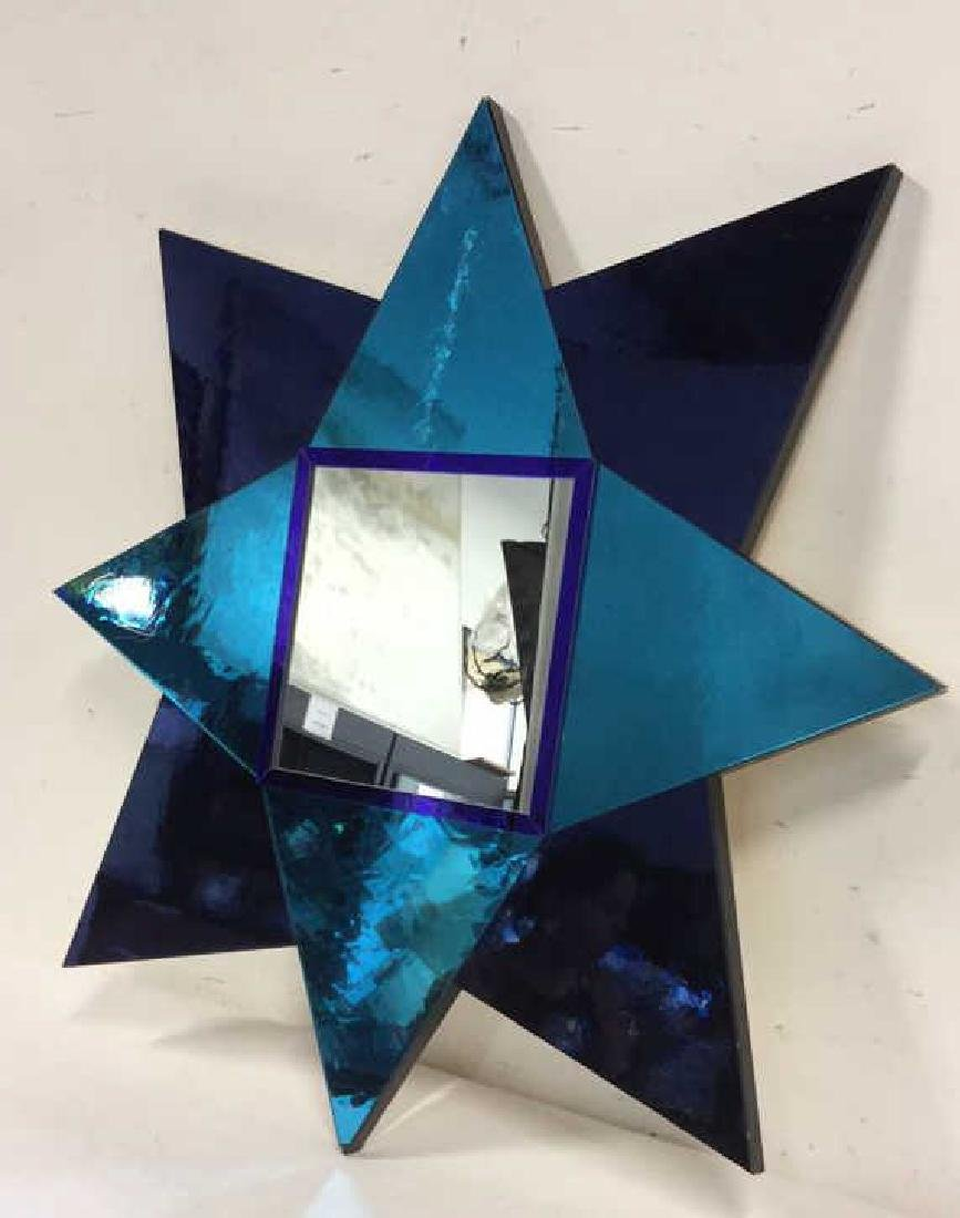 Hand Made Modern 8 Point Star Mirror - 10