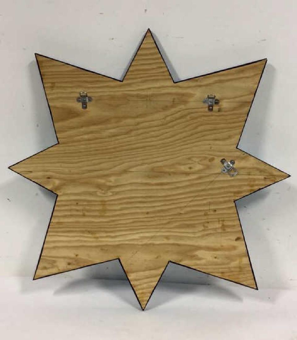 Hand Made Modern 8 Point Star Mirror - 5