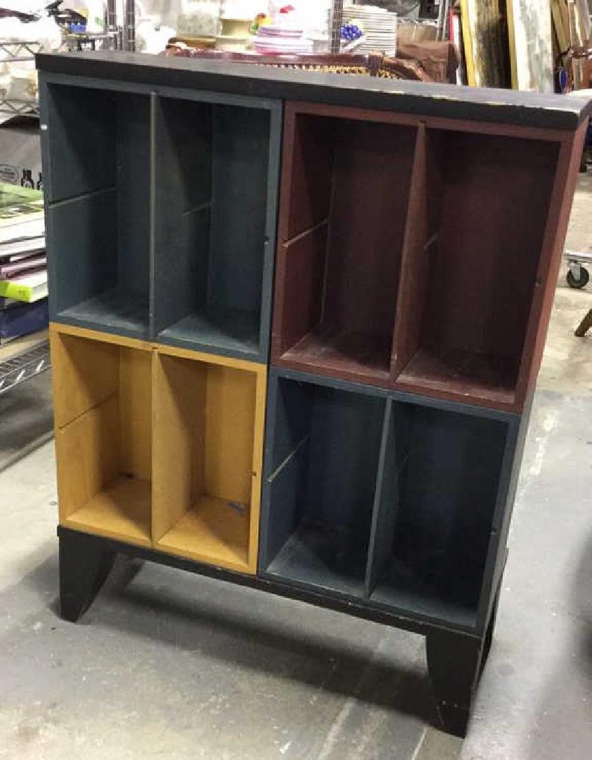 Multicolored Wood Storage Unit