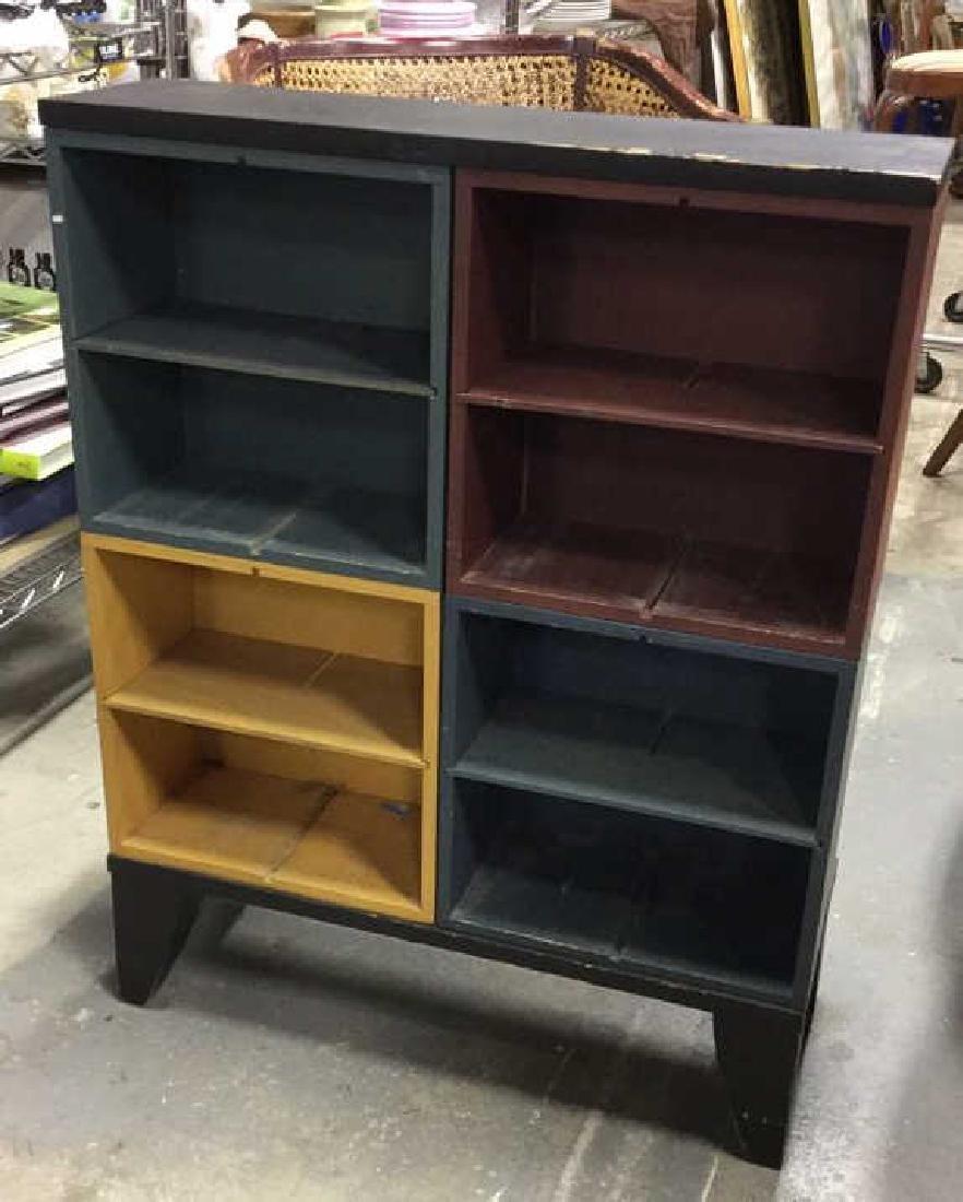 Multicolored Wood Storage Unit - 2