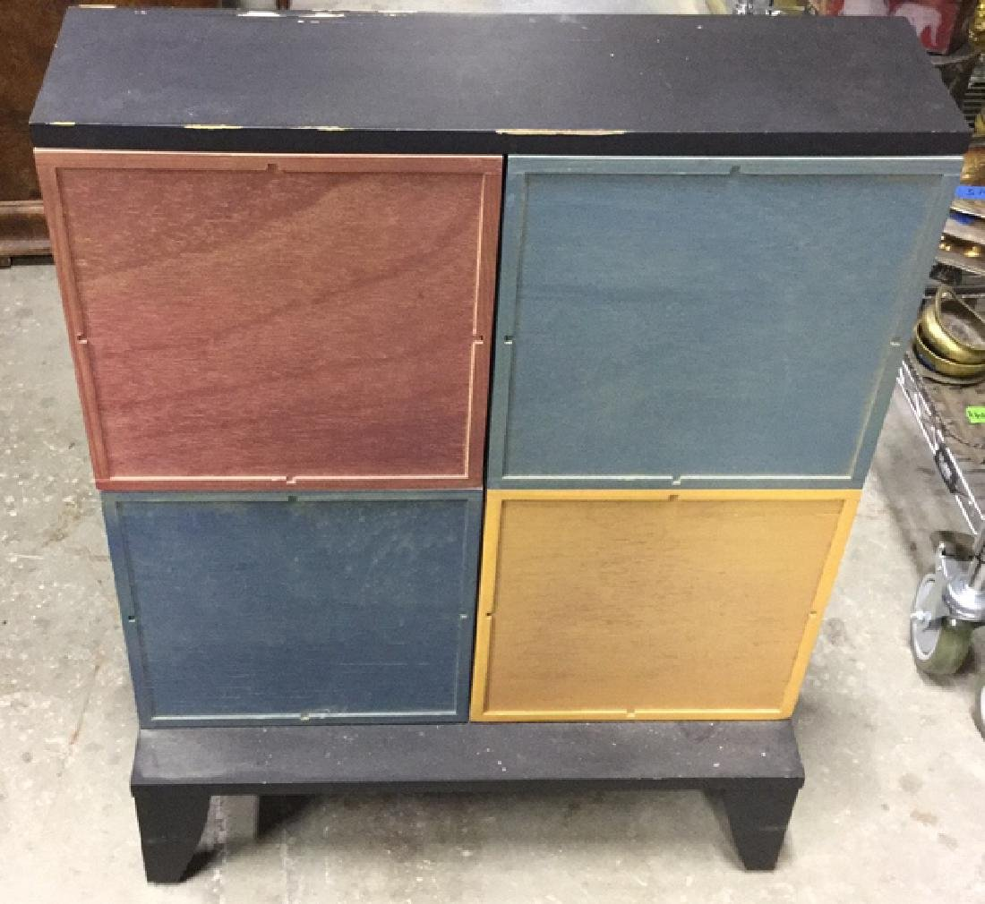 Multicolored Wood Storage Unit - 6