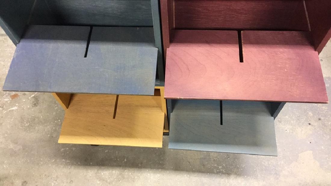 Multicolored Wood Storage Unit - 9
