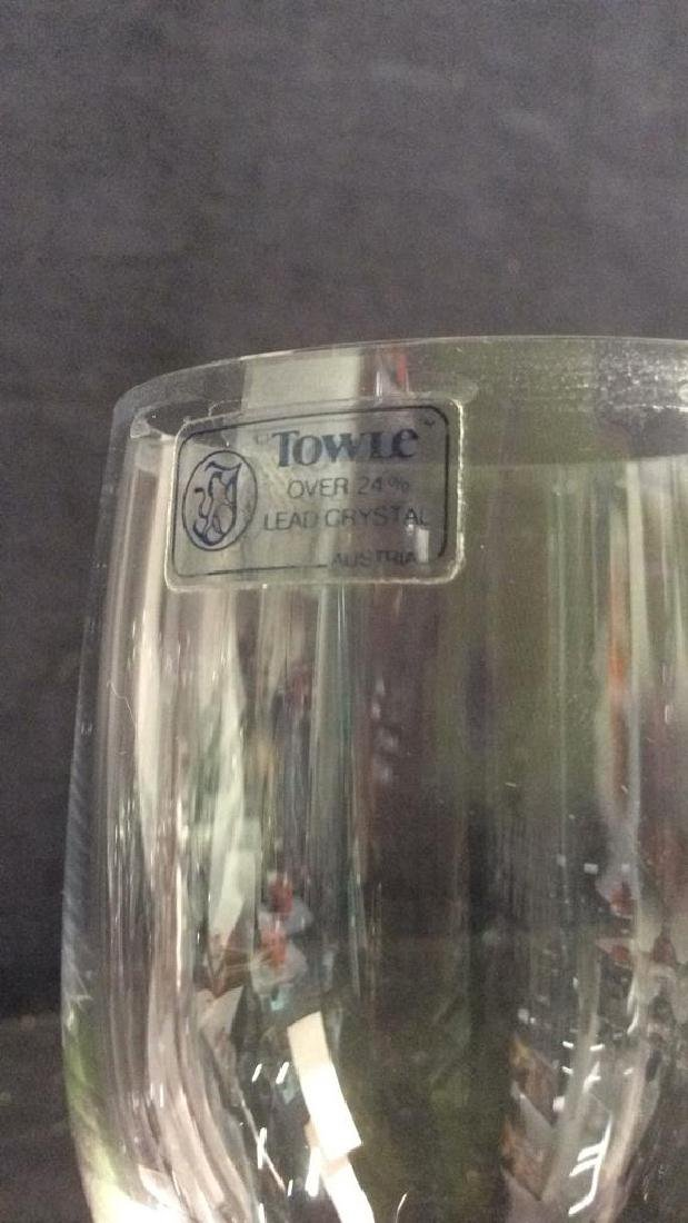 Lot 8 TOWLE Crystal Austrian Wine Glasses - 7