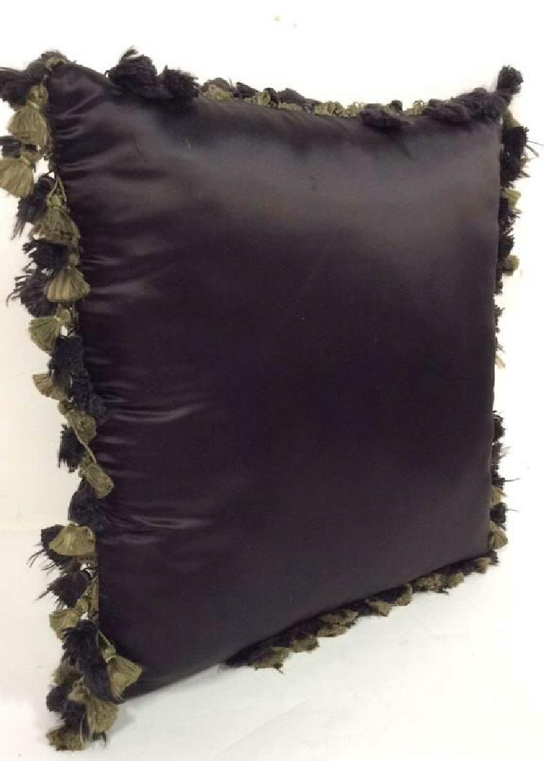 Embroidered Floral Throw Pillow - 5