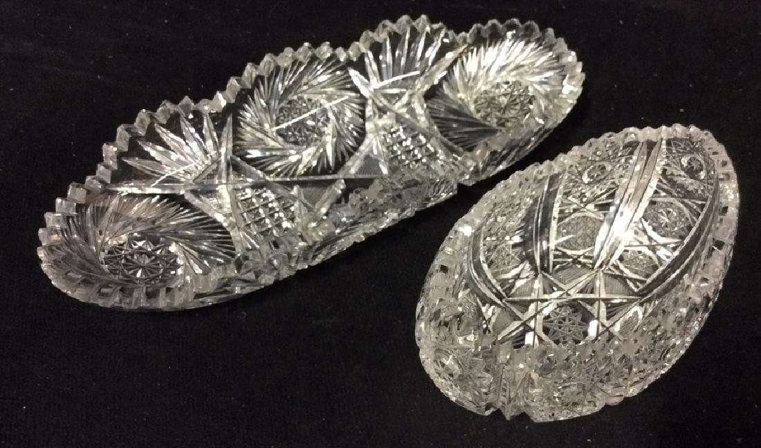 Lot 2 Crystal Cut Dishes
