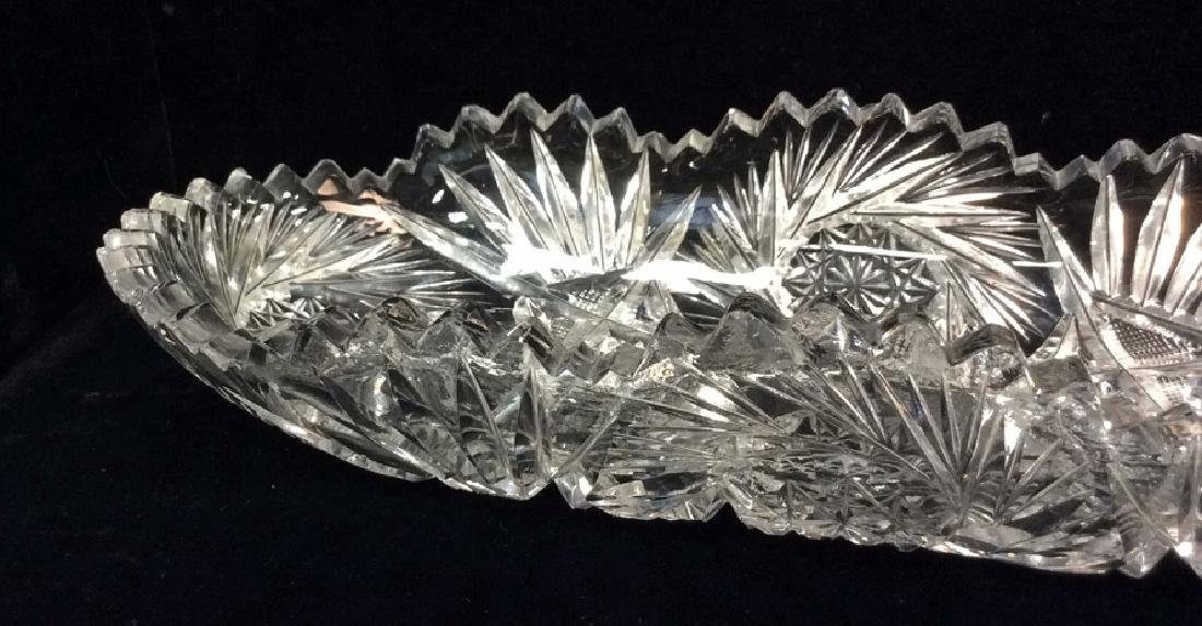 Lot 2 Crystal Cut Dishes - 2