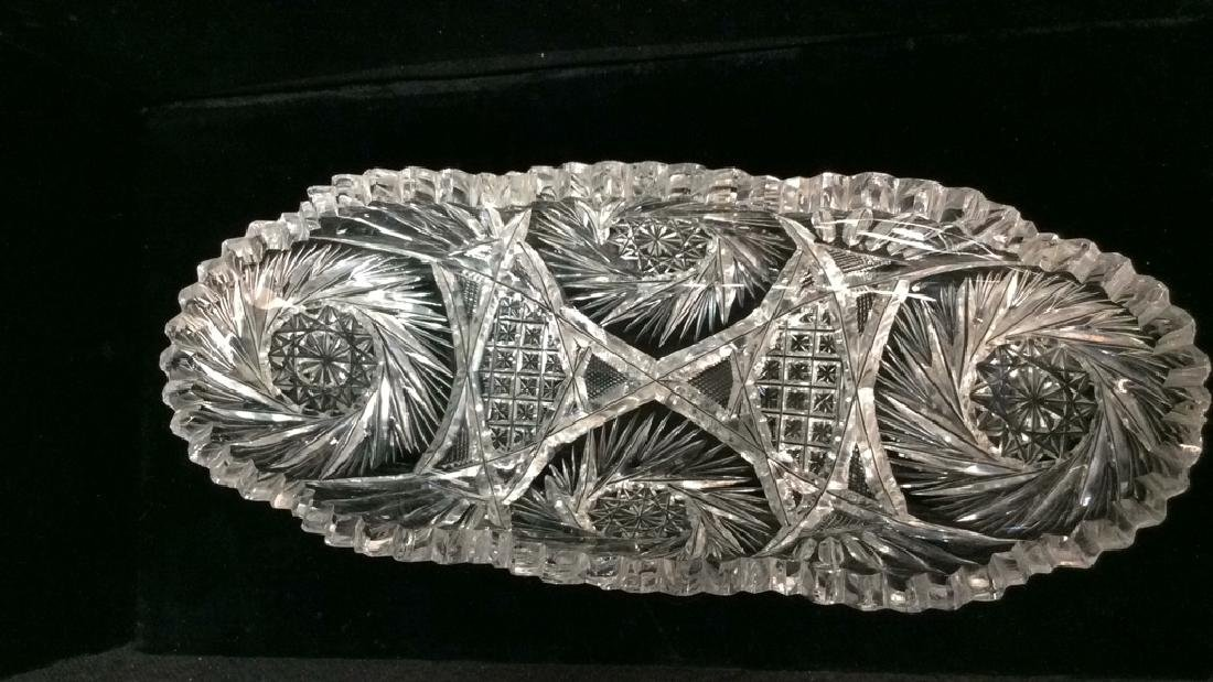 Lot 2 Crystal Cut Dishes - 3