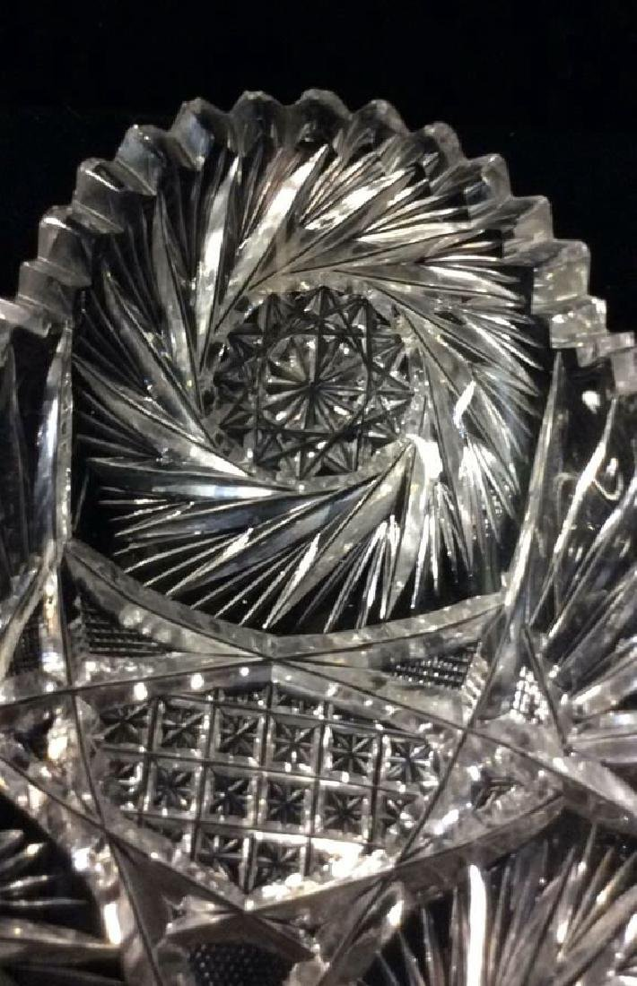 Lot 2 Crystal Cut Dishes - 4