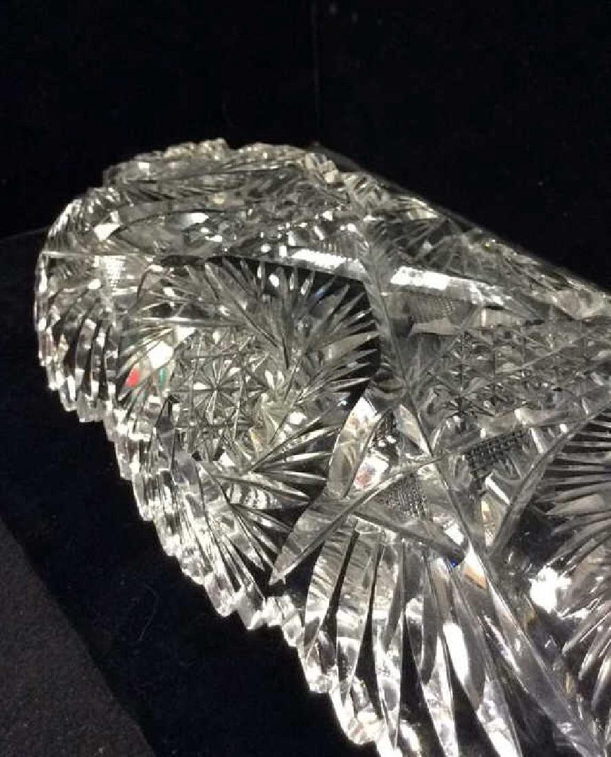 Lot 2 Crystal Cut Dishes - 6