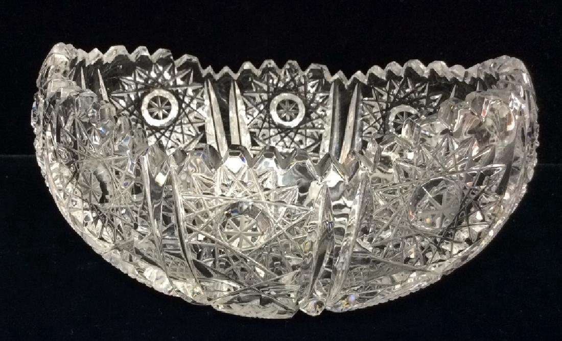 Lot 2 Crystal Cut Dishes - 7