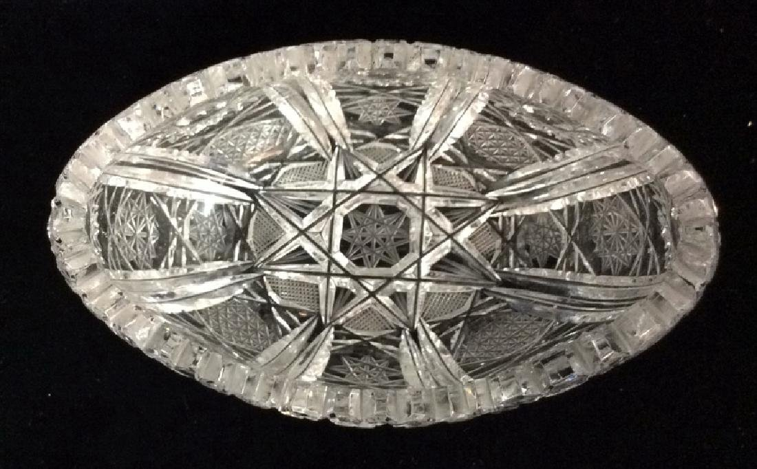 Lot 2 Crystal Cut Dishes - 8