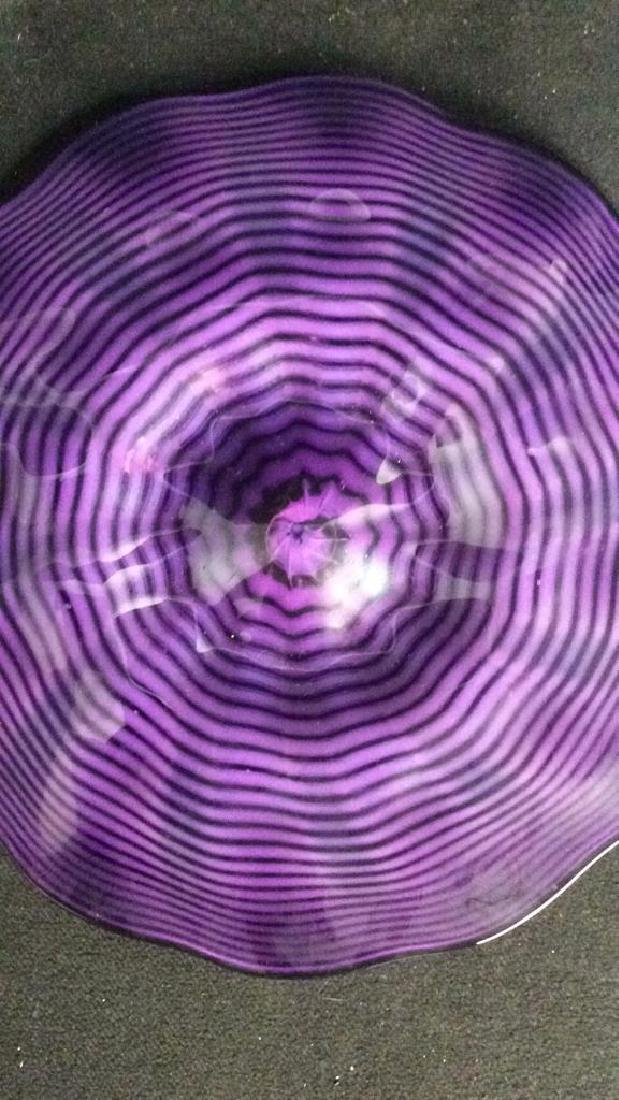 Purple Toned Art Glass Plate - 5