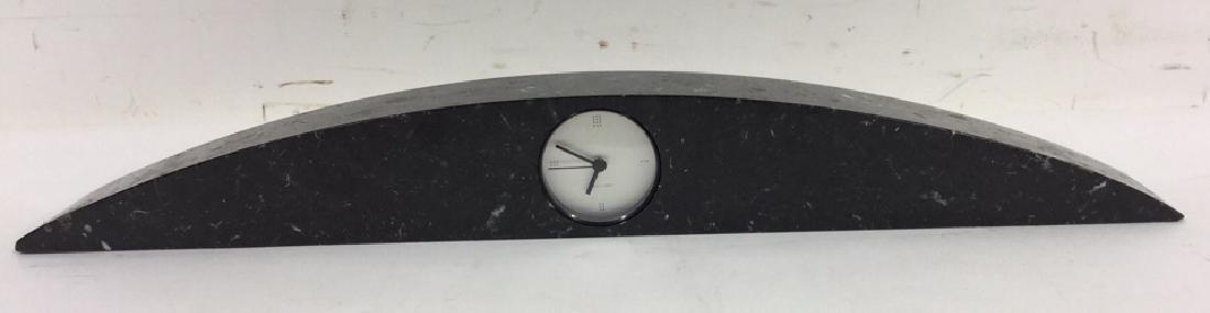 Vintage Koch Lowy Black Marble Mantel Clock