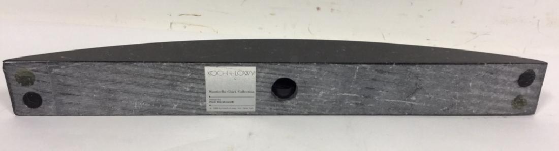 Vintage Koch Lowy Black Marble Mantel Clock - 6