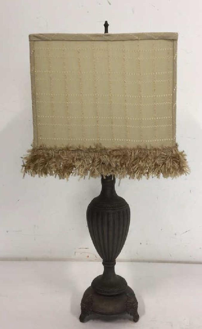 Decorative Metal Table Lamp With Shade