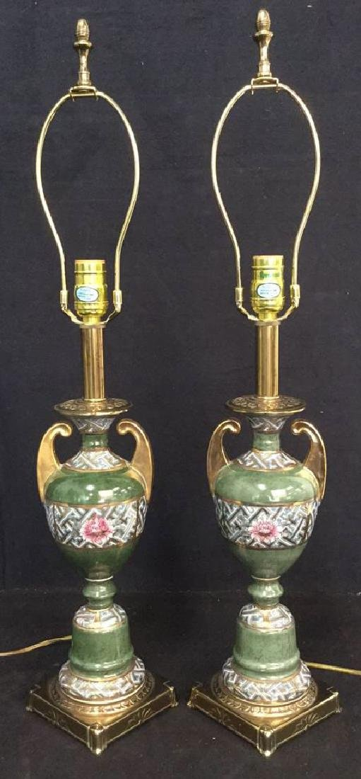 Pair Table Lamps by Rembrandt Lamp Co - 9