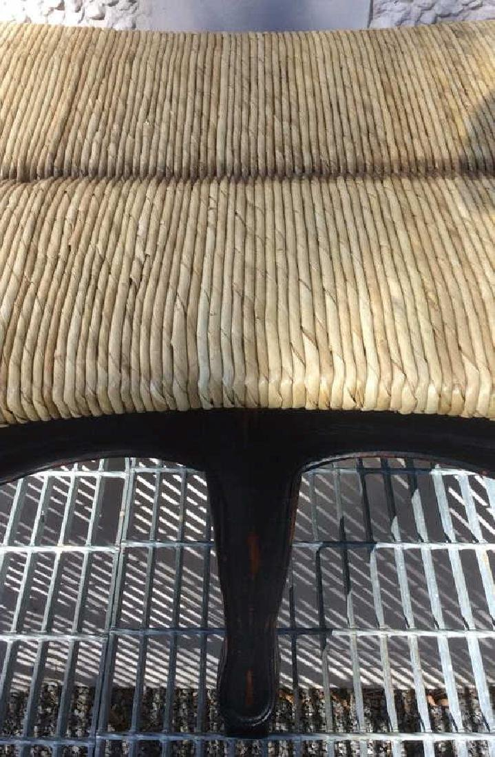 Wooden Frame Rattan Bench - 9