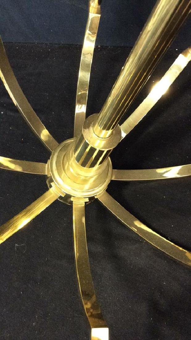 Mid Century Modern Stickley Brass Chandelier - 3